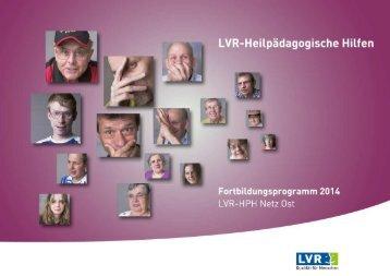 Fortbildungskatalog 2014 LVR-HPH-Netz Ost