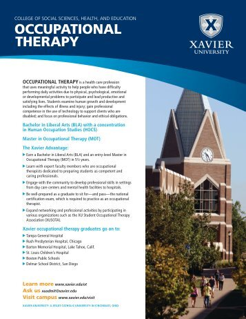 OCCUPATIONAL THERAPY - Xavier University