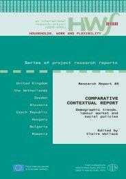 COMPARATIVE CONTEXTUAL REPORT - HWF