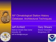 Climatological Station History - National Climatic Data Center - NOAA