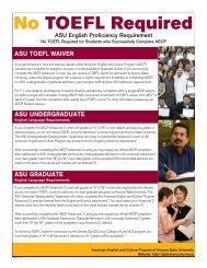 No TOEFL Required - ASU International - Arizona State University