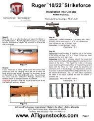 Ruger 10 22 Strikeforce Installation Instructions Midwayusa