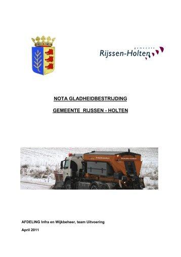 nota gladheidsbestrijding - Gemeente Rijssen-Holten