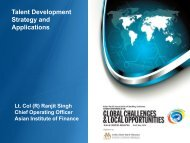 Talent Development Strategy and Applications - Institute of Bankers ...