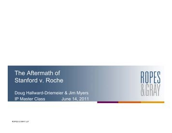 The Aftermath of Stanford v. Roche - Ropes & Gray