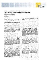 Das neue Familienpflegezeitgesetz - Bundesvereinigung der ...
