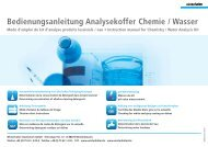 Bedienungsanleitung Analysekoffer Chemie / Wasser - Winterhalter