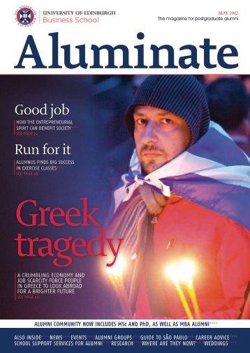 Aluminate - May 2012 - University of Edinburgh Business School