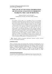 the use of accounting information by financial analysts in emergent ...