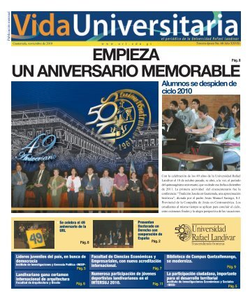 empieza un aniversario memorable - Universidad Rafael Landívar