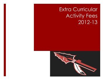 Extra Curricular Activity Fee - Warwick School District