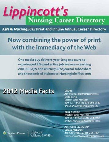 AJN & Nursing2012 Print and Online Annual Career Directory