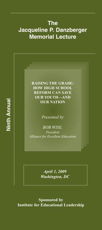 2009 - Institute for Educational Leadership