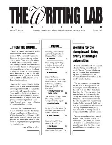 30.2 - The Writing Lab Newsletter