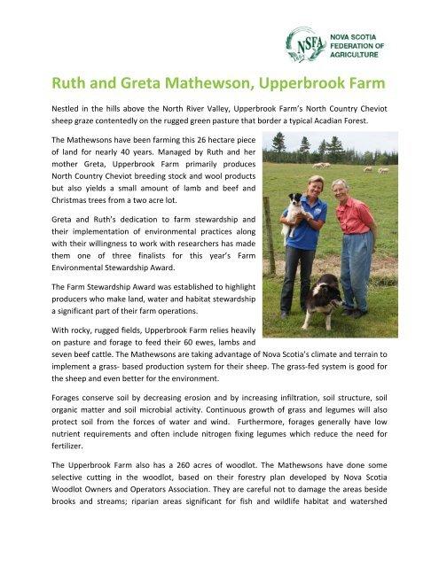 Ruth and Greta Mathewson, Upperbrook