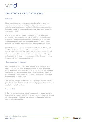 Email marketing, vCards e microformats - Blog de Email Marketing
