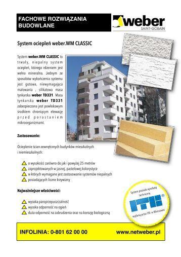 weber.WM CLASSIC TD331.pdf, strony 1-4