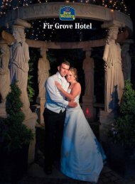 Fir Grove wedding brochure - Feathers Hotel Group - UK.COM