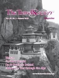 Vol. 27 No. 1 January 2009 – Bhutan, Northern - The Travel Society
