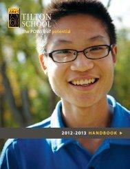 Student Handbook - Tilton School