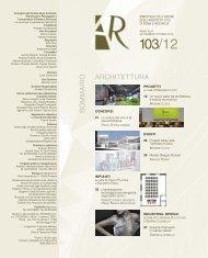 AR 103 stampa+PUBB:Layout 1 - diario: quotidiano di Architettura