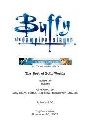 The Best of Both Worlds Written by - Buffyuniverse.com