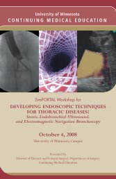 Developing Endoscopic Techniques for Thoracic Diseases