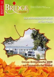 Oktober 2009 - Deutscher Bridge-Verband e.V.