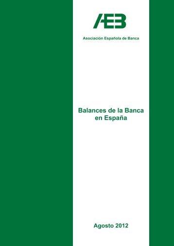 Balances agosto 2012 - Asociación Española de Banca