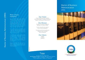 Doctor of Business Administration - Namibia Business School