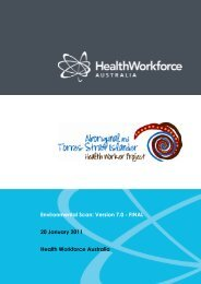 Aboriginal and Torres Strait Islander Health Worker Project