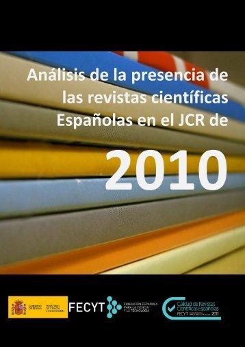 Análisis de la presencia de revistas españolas en el JCR