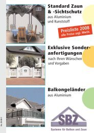 Exklusive Sonder- anfertigungen Balkongeländer Standard Zaun ...