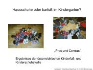 Hausschuhe oder barfuß im Kindergarten? - Kinderfüße-Kinderschuhe
