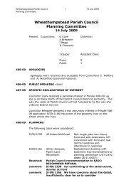 Planning Committee Minutes July 2009 - Wheathampstead Parish ...