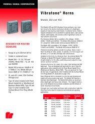 Vibratone® Horns - Federal Industrial Sales