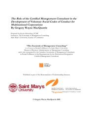 The Role of the Certified Management Consultant - Canadian ...
