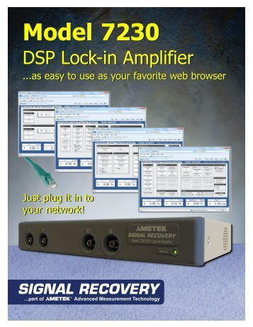 Model 7230 Model 7230 - Signal Recovery