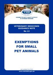 VMGN 12 - Exemption scheme for small pet animals - Veterinary ...