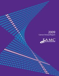 2009 Cancer Annual Report - Fremont Area Medical Center