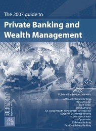 The 2007 guide to Private Banking and Wealth ... - Euromoney