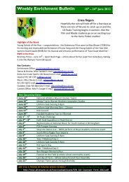 Weekly Enrichment Bulletin 18th – 24th June 2012