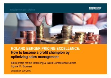 ROLAND BERGER PRICING EXCELLENCE: How to become a ...