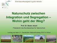 Naturschutz zwischen Segregation und Integration - Deutscher ...