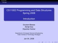 CS11002 Programming and Data Structures Spring 2008 Introduction