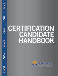 Download the Candidate Handbook - Cahsah