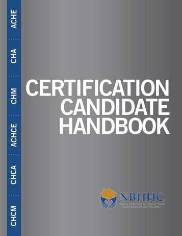 Download the Candidate Handbook - Cahsah