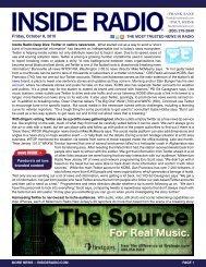 news INSIDE >> Friday, October 8, 2010