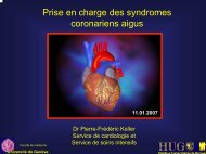 Syndromes coronariens aigus