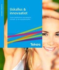Uskallus & innovaatiot, uusia näkökulmia suomalaisiin sosiaali - Tekes